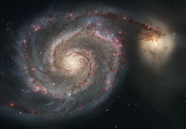کهکشان گرداب و یک کهکشان همراه